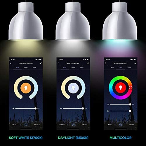 Smart Light Bulbs, 3Stone A21 10W Smart LED Light Bulb, 2700K-6500K RGBCW (100W Equivalent) E26 WiFi App Voice Controlled 2.4G(Not 5G) Multicolor Bulb, Works Perfect with Alexa, Google Assistant 12