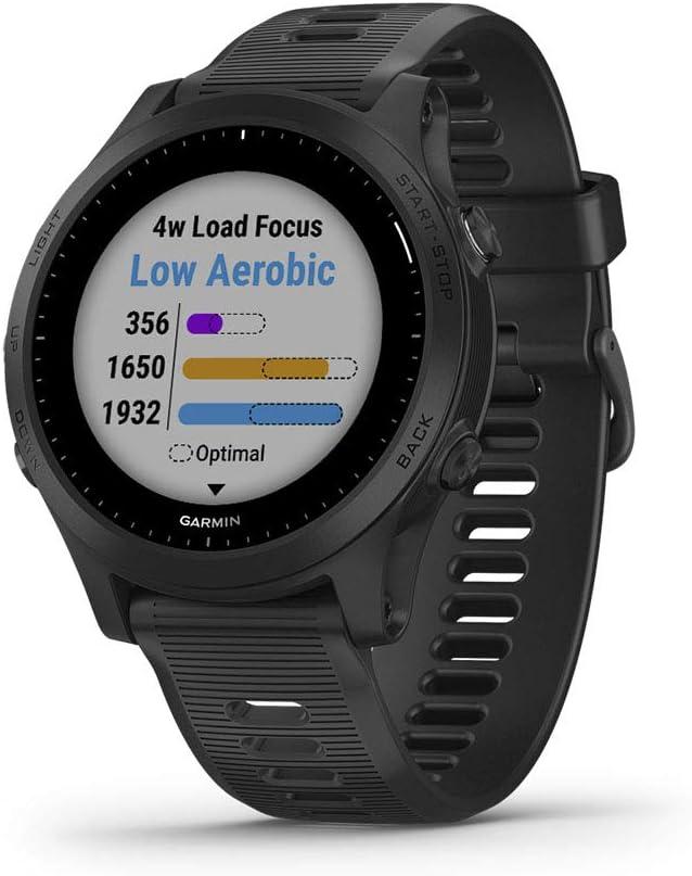 Garmin Forerunner 945, Premium GPS Running/Triathlon Smartwatch with Music, Black