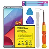 LG G6 Battery, Euhan 3500mAh Li-Polymer Battery BL-T32 Replacement for LG G6 (H870 H871 H872 LS993 VS998) with Repair Screwdriver Tools | G6 Battery Replacement Kit [24 Month Warranty]