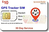 GSM SIM Card for GPS Trackers - Pet Kid Senior Vehicle Tracking Devices - 30 Day Service - USA Canada & Mexico Roaming