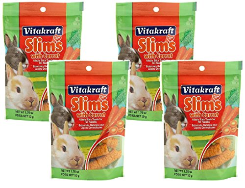 Vitakraft Slims with Carrot for Rabbits - 4 PACK 1