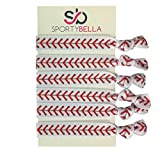 Infinity Collection Baseball Hair Accessories, Baseball Hair Ties, No Crease Baseball Hair Elastics Set