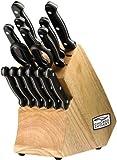 Chicago Cutlery C01034 knifeceramicchefsteak, 15-Piece, Black