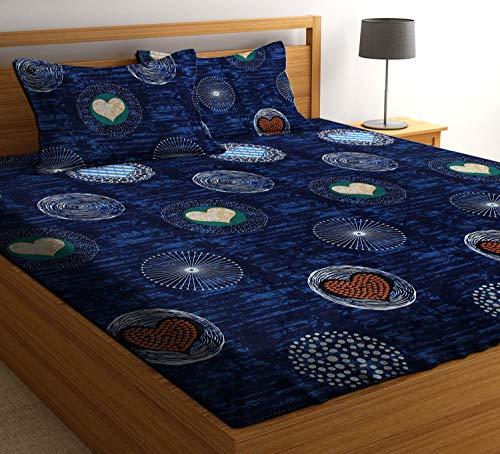 51Dc9iZqenL - HIYANSHI HOME FURNISHING Microfiber King Size Double Bedsheet with 2 Pillow Covers (Multicolour)
