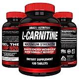 L-Carnitine 1000mg Servings 120 Tablets - Carnitine Amino Acid - Arazo Nutrition USA