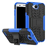 Yiakeng LG X Charge Case,LG Fiesta LTE Case,LG X Power 2 Case, Shock Absorbing Dual Layer Protective Fit Armor Phone Cases Cover Shell for LG Fiesta LTE,X Power 2,LV7 (Blue)