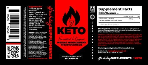 7 Keto Diet Pills - Weight Management Metabolism Booster - Natural Fat Loss | Maximize Results of a Proper Diet and Exercise - 30 Day Supply (60 Capsules) - Hashtag Supplements 4