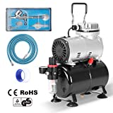 VIVOHOME 110-120V Professional Airbrushing Paint System with 1/5 HP Air Compressor and 1 Airbrush Kit