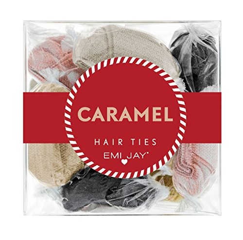51DhTXA2d%2BL Each package contains 12 2x2x2 individually wrapped hairties. Caramel includes: 2 black, 2 chocolate pearl, 2 bronze, 2 butterscotch 2 pink pearl, 2 champagne pearl.