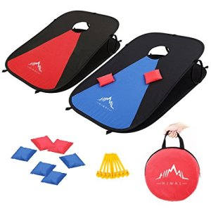 Himal Collapsible Portable Corn Hole Boards With 8 Cornhole Bean Bags (3 x 2-feet) 4