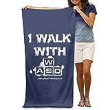 ShanxianP I Walk With WASD Soft Absorbent Beach Towel Pool Towel 3050