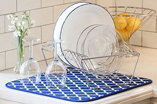 S&T Microfiber Dish Drying Mat, 16