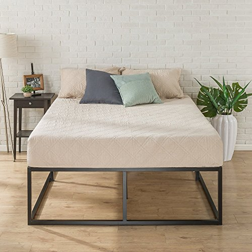 Zinus Joesph Modern Studio 18 Inch Platforma Bed Frame / Mattress Foundation / Boxspring Optional / Wood slat support, Queen