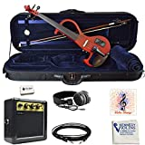 Bunnel EDGE Clearance Electric Violin Outfit BE300 (Rockstar Red)