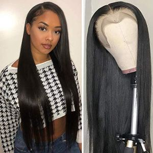 ALI RAIN Human Hair Wigs Pre Plucked with Baby Hair 150% Density Brazilian Straight Human Hair Lace Front Wigs for Women Natural Hairline 16 Inches 51Dt5cJEfJL