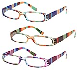 Gamma Ray Women's Reading Glasses - 3 pack Ladies Fashion Readers for Women - 1.75