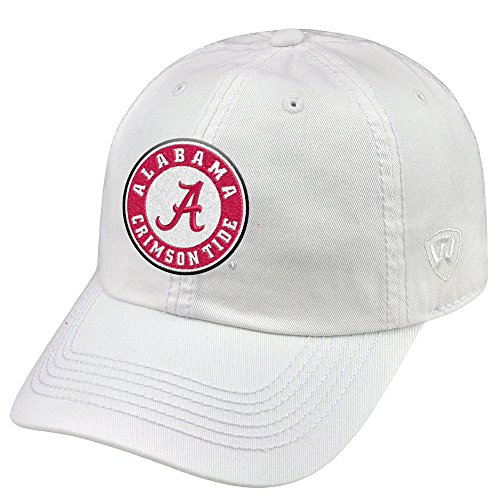 new style c175d a435c Alabama Crimson Tide Adjustable Hat Relaxed Fit White Icon