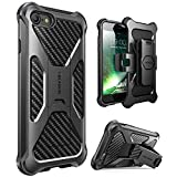 iPhone 7 Case, iPhone 8 Case, i-Blason Transformer [Kickstand] Apple iPhone 7/Apple iPhone 8 [Heavy Duty] [Dual Layer] Combo Holster Cover case with [Locking Belt Swivel Clip] (Black)