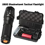 Sixpi Super Bright 6000lm Genuine SHADOWHAWK X800 Tactical Flashlight LED Zoom Military Torch G700