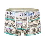 EEYAGEN Jinshi Mens Trunks Underwear Boxer Briefs Bamboo Short Boxers for Men Pack of 5 or 7 Random (SJ#338-1 Pack, US L/Tag CN XL)