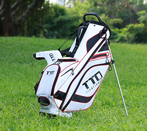 Super Light-Weight Golf Stand Bag for Easy Carry, White