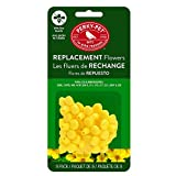 Perky-Pet 202FB 9 Piece Yellow Hummingbird Feeder Replacement Flowers, Pack of 4