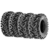 Set of 4 SunF A041 Mud & Trail 24x8-12 Front & 24x10-11 Rear ATV UTV off road Tires, 6 PR, Tubeless