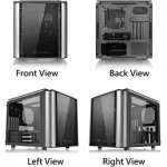Thermaltake Level 20 VT Tempered Glass Interchangeable Panel DIY LCS Chamber Concept Micro ATX Modular Gaming Computer…