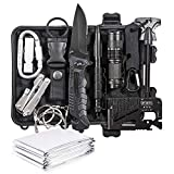 DLY Emergency Survival Kit 13 in 1- Outdoor Survival Gear Tool for Wilderness/Trip/Cars/Hiking/Camping Gear - Emergency Blanket, Flashlight, ect (Emergency Survival Kit SET2)