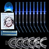 Harmony Life Teeth Whitening Kit Includes 9-Pieces Whitening Gel, 6-Pieces Mouth Trays, 1-Piece Whitening Light, Shade Guide and Using Manual