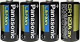 Panasonic CR123A Lithium 3V Photo Lithium Batteries (4 Pack)