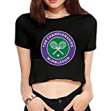 TLK Custom Women Wimbledon Championships Logo Cotton Crop Top