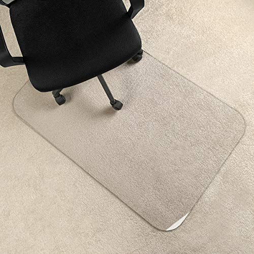 [Upgraded Version] Crystal Clear 1/5″ Thick Heavy Duty Hard Chair Mat, Can be Used on Carpet or Hard Floor