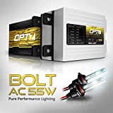 OPT7 Bolt AC 55w 9005 HID Kit - 5X Brighter - 6X Longer Life - All Bulb Sizes and Colors - 2 Yr Warranty [5000K Bright White Xenon Light]