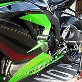 Shogun 2013-2018 Kawasaki ZX6R ZX6RR ZX636 Black No Cut Frame Sliders - 750-4449 - MADE IN THE USA