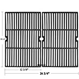 Hisencn Universal Cast Iron Cooking Grid Grill Grate Replacement Parts for Charmglow,Jenn-Air,Weber,BBQ Grillware GGPL-2100,Costco Kirkland,Aussie,Grill Zone,Kenmore, Nexgrill.Gas Grill