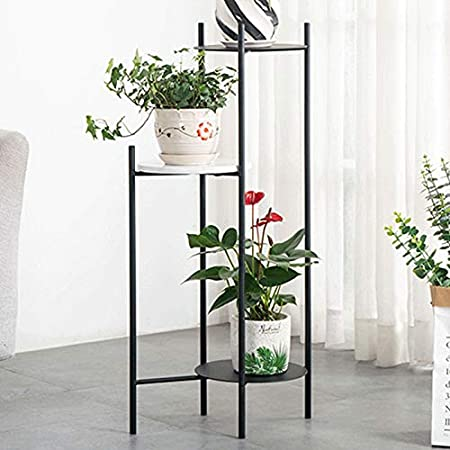 Amazon Com Flower Pot Holder Plant Pot Stand Garden Plants Pot Stan Indoor Plant Stand Metal Plant Stand Holder Rack For Indoor Outdoor Plant Ladder Racks Iron Flowerpot Holder Color Black