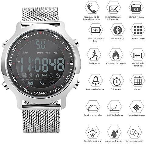 51E28bURZDL. AC  - Redlemon Smartwatch Reloj Inteligente Sport con Pantalla Digital, Resistente al Agua, Notificaciones de Llamadas, Redes Sociales y Mensajería, Funciones Deportivas, Podómetro, Hasta 6 Meses de Batería #Amazon