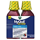 Vicks NyQuil SEVERE Cough Cold and Flu Nighttime Relief Berry Flavor...