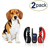 eXuby 2X Shock Collar for Small Dogs w/ 1 Remote & Training Dog Clicker - 3 Modes (Sound, Vibration & Shock) with Rechargeable Batteries - Fast Results