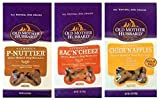 Old Mother Hubbard All Natural Oven-Baked Mini Dog Biscuits 3 Flavor Variety Bundle: (1) Old Mother Hubbard Classic BacNCheez, (1) Old Mother Hubbard Classic P-Nuttier, and (1) Old Mother Hubbard Classic ChickNApples, 5 Oz. Ea. (3 Bags Total)