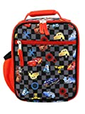 Disney Cars Lighting McQueen Boys Soft Insulated School Lunch Box (One Size, Black/Red)