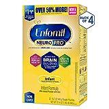 Enfamil NeuroPro Baby Formula Milk Powder Refill, 31.4 ounce (Pack of 4) - MFGM, Omega 3 DHA, Probiotics, Iron & Immune Support