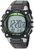 Timex Men's TW5M03400 Ironman Classic 100 Full-Size Black/Green Resin Strap Watch