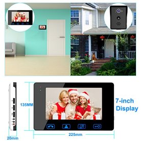 Video-Door-Phone-Doorbell-Wires-Video-Intercom-Monitor-7-Wired-Door-Bell-Home-Security-System-with-Night-Vision-and-Push-Button-HD-Camera