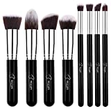 BESTOPE Makeup Brushes 8 Pieces Makeup Brush Set Professional Face Eyeliner Blush Contour Foundation Cosmetic Brushes for Powder Liquid Cream (8Pcs/Silver)