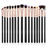 BESTOPE Eye Makeup Brushes Set, 16 Pieces Professional Cosmetics Brush, Eye Shadow, Concealer, Eyebrow, Foundation, Powder Liquid Cream Blending Brushes Set with Premium Wooden Handles
