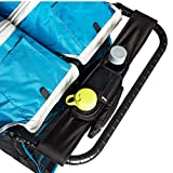 BEST DOUBLE STROLLER ORGANIZER for Smart Moms, Fits Both Double & Single Strollers, Deep Cup Holders, Extra Storage Space for iPhones, Wallets, Diapers, Books, Toys, The Perfect Baby Shower Gift!