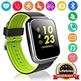 Fitness Tracker for Men Women Smart Watch with Blood Pressure Heart Rate Monitor Pedometer Calorie Wrist Stopwatch Activity GPS Tracker for Android iOS Holiday Birthday Idea - Green