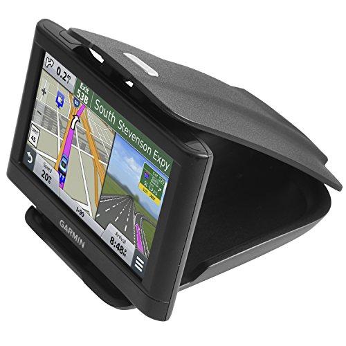 GPS Dash Mount [Matte Black Dock] for Garmin Nuvi Drive Dezl Drivesmart Driveassist DriveLuxe, Tomtom, Magellan Roadmate, Navman - Car Sticky Non-Slip Dashboard 3.5 4.3 5 6 inch Navigation Holder